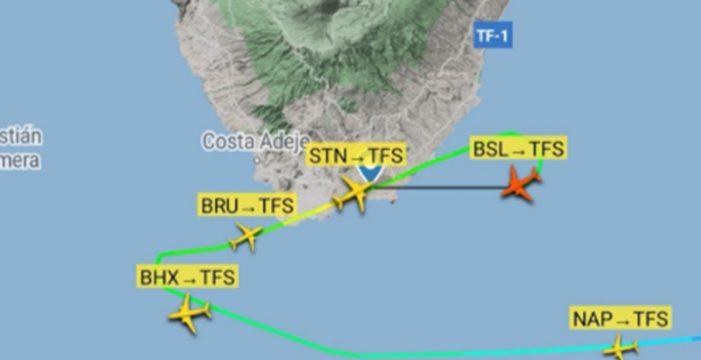 El viento frustra varios aterrizajes en el aeropuerto Tenerife Sur