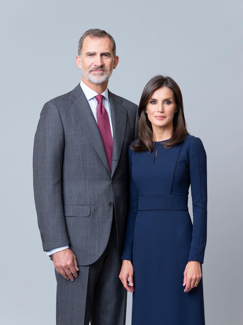 Fotografías oficiales de los Reyes, la Princesa de Asturias y la Infanta Sofía
