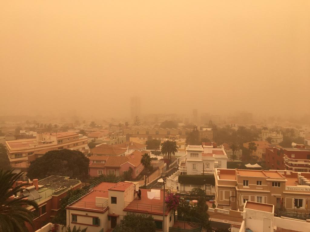 Episodio de calima en la isla de Gran Canaria. EP