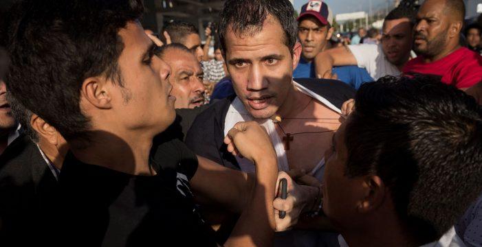 Agreden a Guaidó y a su mujer al volver a Venezuela tras su gira internacional