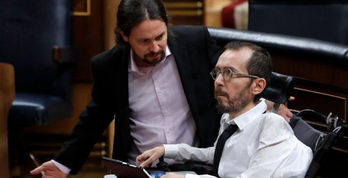 """""""¡¿Quién ha dicho eso?!"""": Iglesias se enfada en el Congreso tras un grito contra Echenique por la eutanasia"""