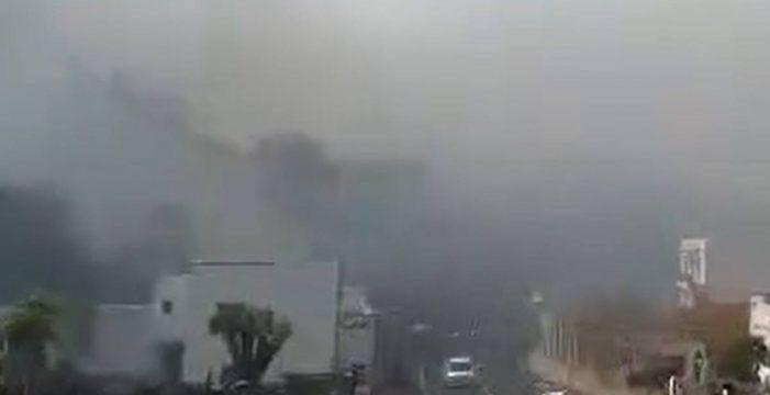 Santa Úrsula evacua a centenares de vecinos por los incendios