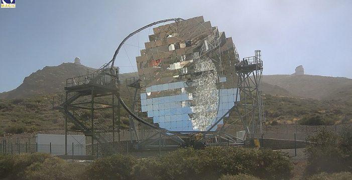 Los daños por el viento en los radiotelescopios Magic y LST-1 son menores de lo previsto