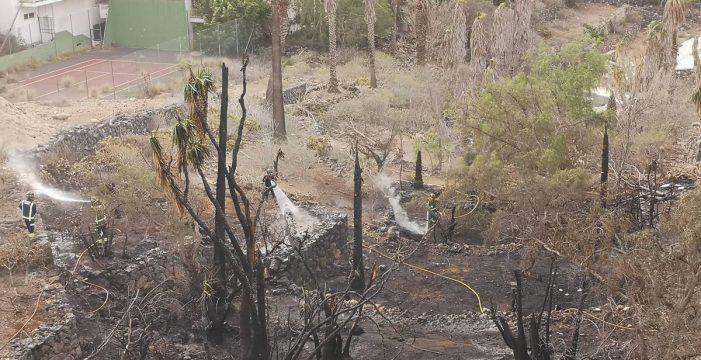 Un incendio en un barranco obliga a desalojar 70 viviendas en Arona