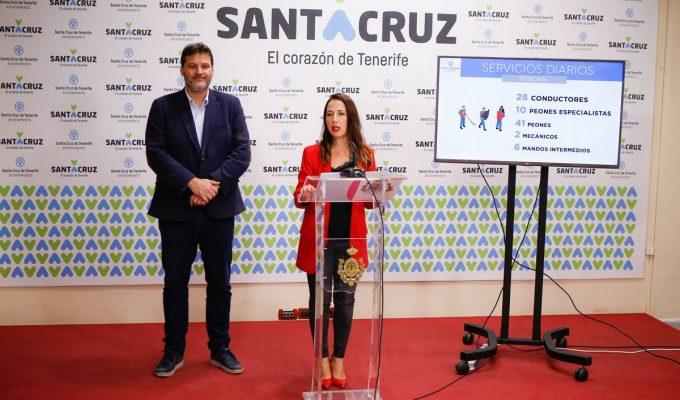 El Ayuntamiento instala 434 baños portátiles en Santa Cruz