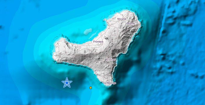 Registrado un terremoto de magnitud 3,2 en aguas de El Hierro