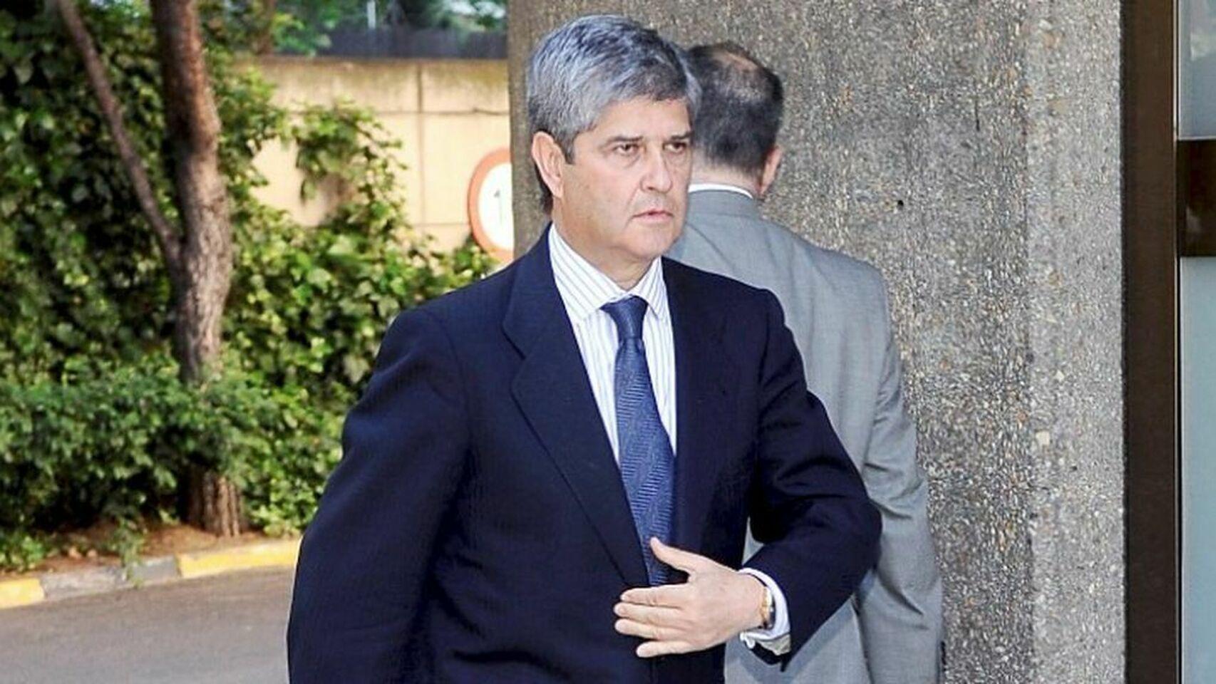 El expresidente del Real Madrid, Fernando Martín. EE