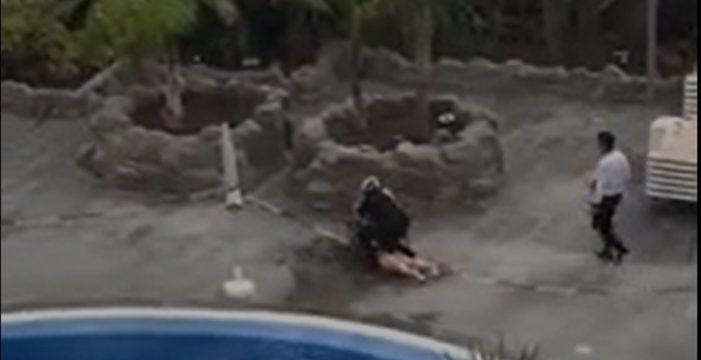 Una política inglesa, la mujer sacada de una piscina en Tenerife durante el estado de alarma