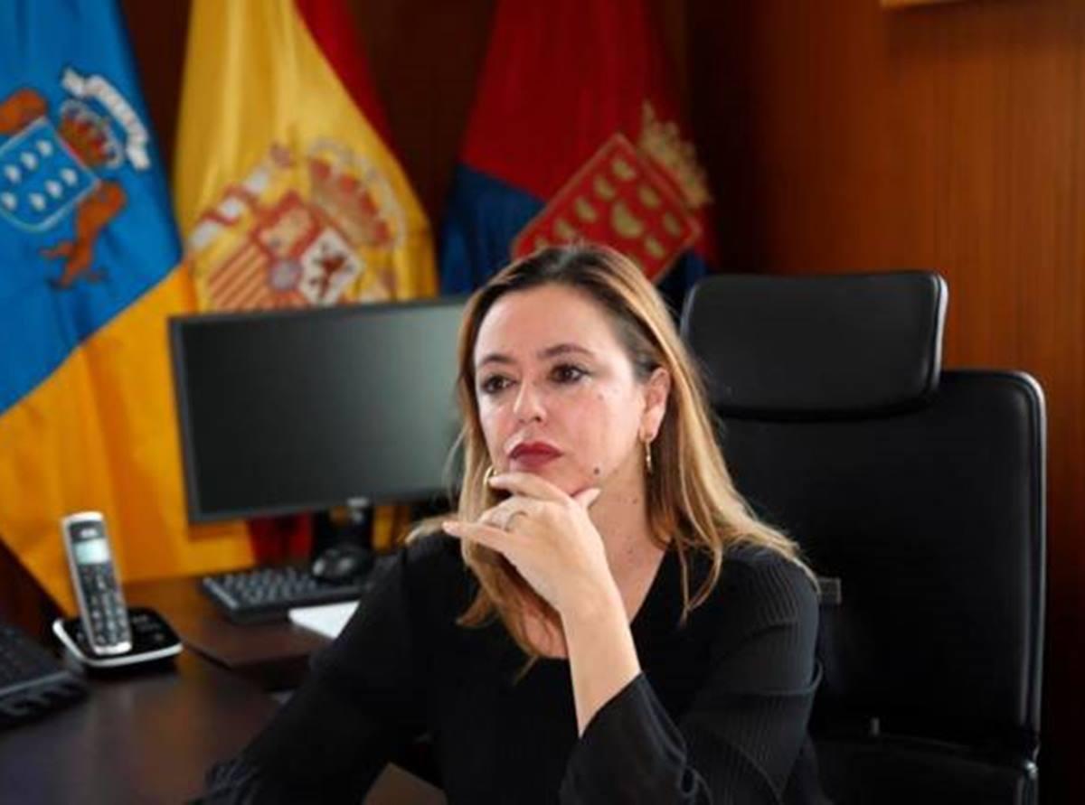 La presidenta del Cabildo de Lanzarote, Maria Dolores Corujo. C7