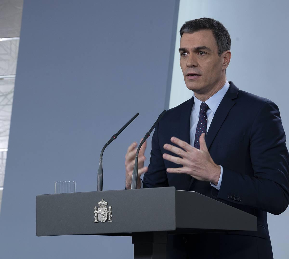 """Sánchez pide """"valentía"""" ante la """"ola"""" del virus que se avecina. EP"""