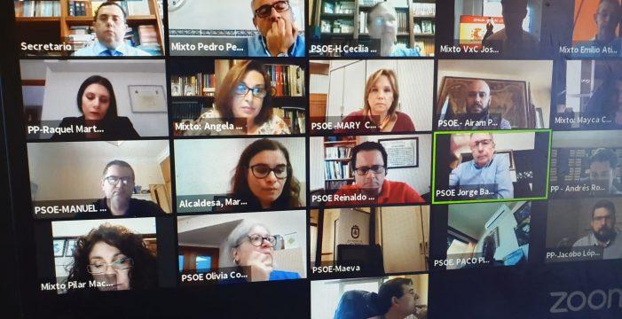 Consenso político en Candelaria, excepto el voto en contra de CC