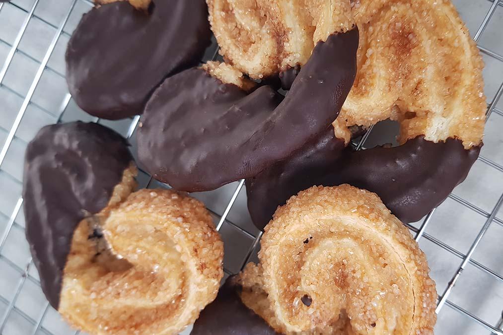 Palmeras de chocolate caseras para la cuarentena