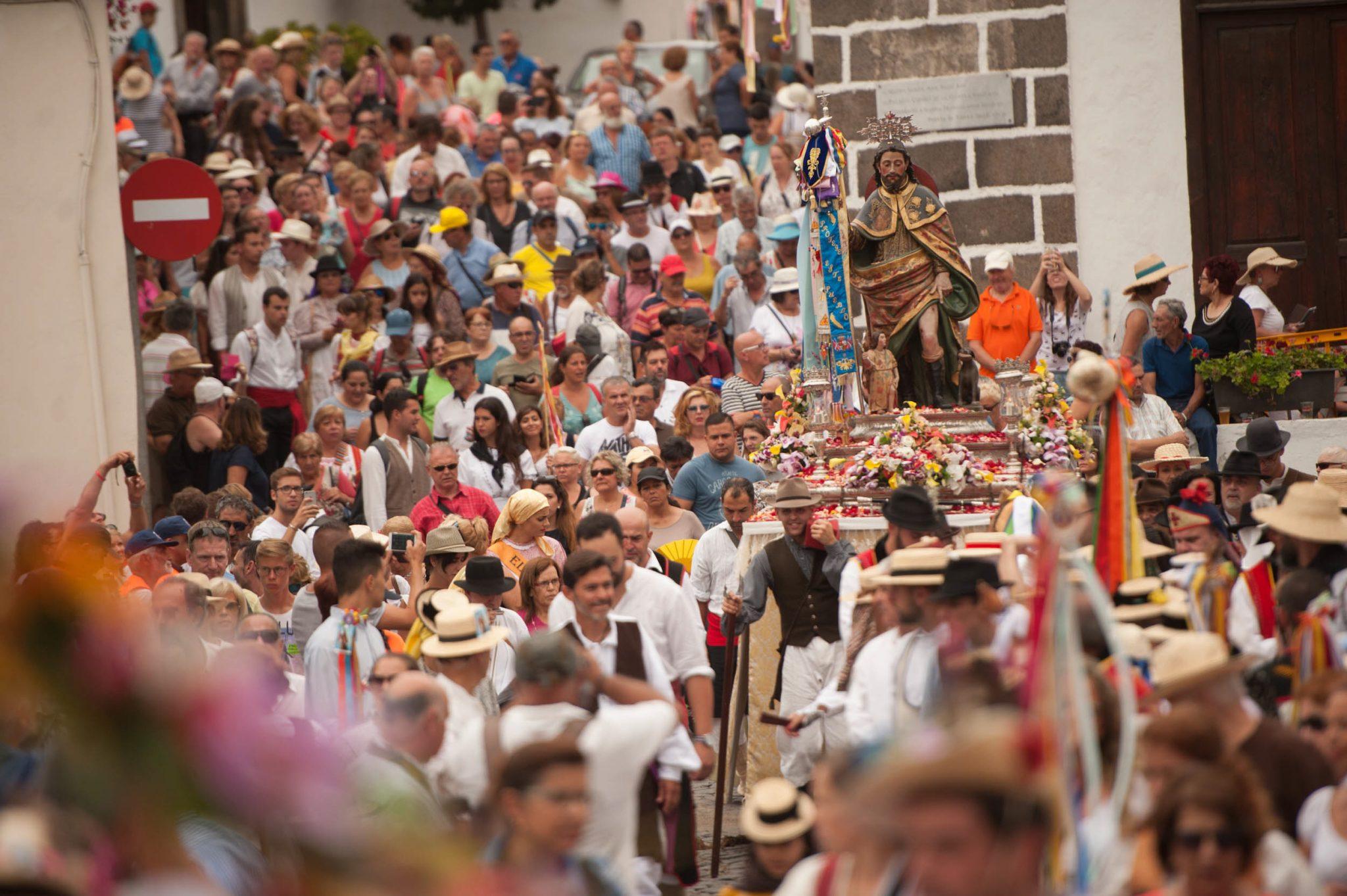 La Romería de San Roque, que se celebra es agosto, es una de las más multitudinarias de la Isla. Fran Pallero
