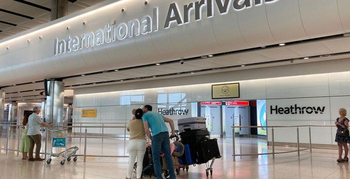 Reino Unido impondrá una cuarentena de dos semanas a todos los viajeros