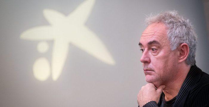 """Ferran Adrià: """"En un restaurante gastronómico si llenas al 70% pierdes dinero"""""""