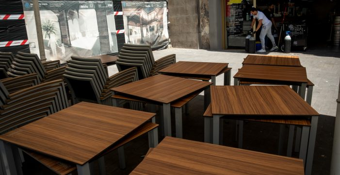 La ampliación de terrazas en Santa Cruz solo afecta al espacio y no al número de mesas