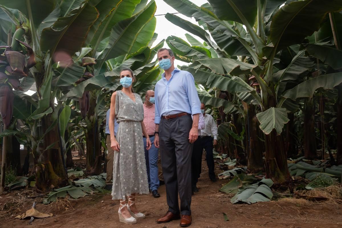 Los reyes, Felipe VI y Letizia, en su visita a Tenerife. DA