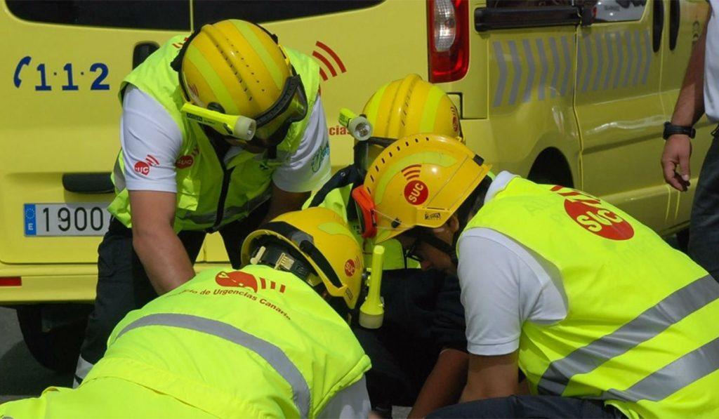 Imagen de archivo de personal del Servicio de Urgencias Canario (SUC). EP