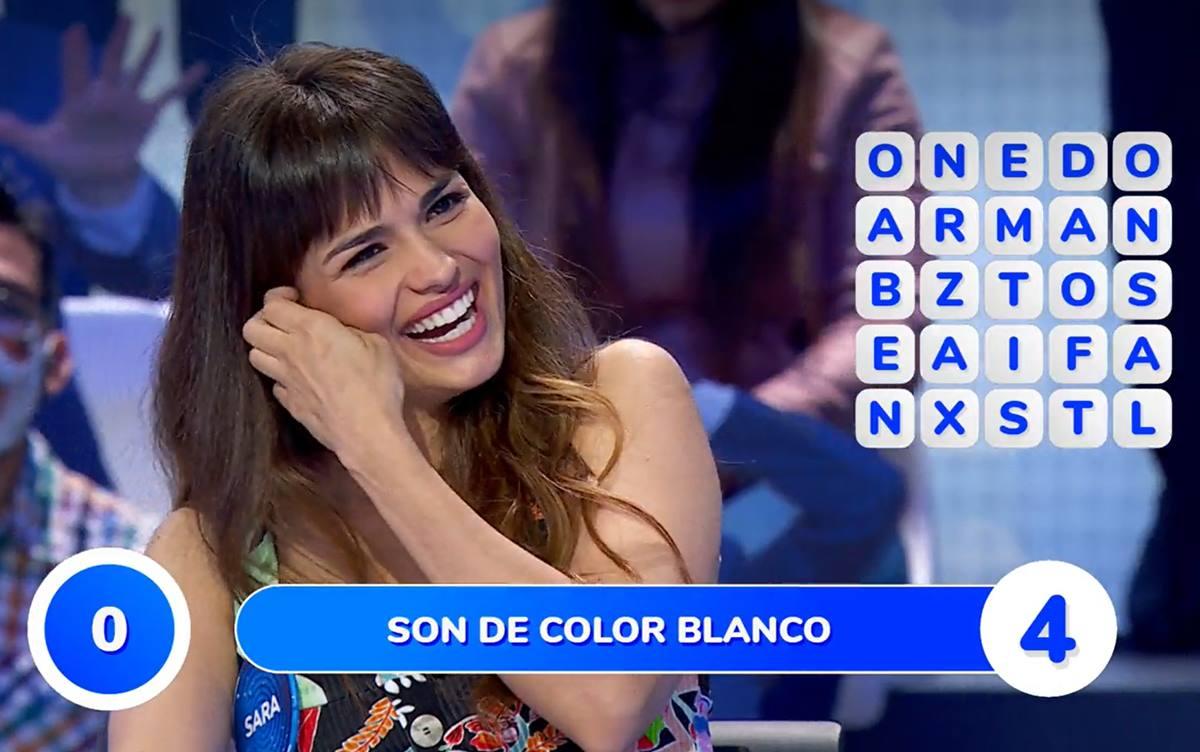 Sara Sálamo en Pasapalabra. Antena3.com