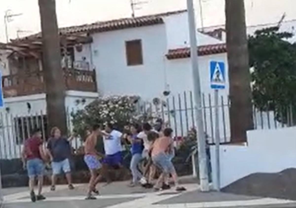 Otra brutal pelea entre jóvenes en el sur de Tenerife. DA
