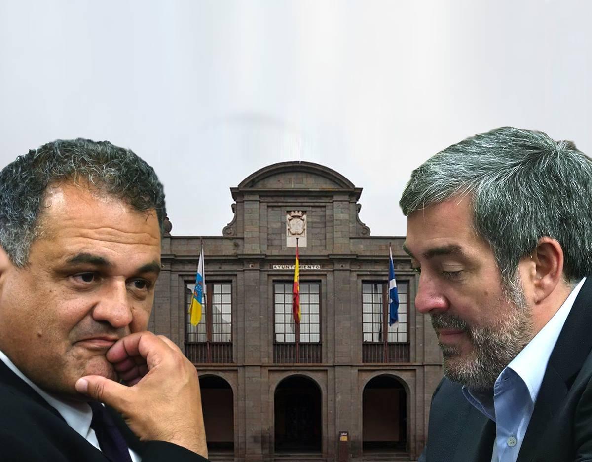 Fernando Clavijo y José Alberto Díaz, durante su etapa en el Ayuntamiento de La Laguna. DA