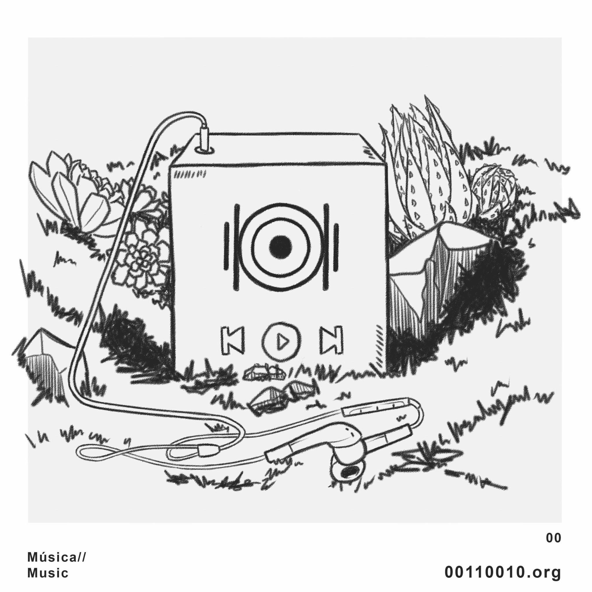 Siete ilustraciones que representan las siete disciplinas artistas con las que se puede participar en la plataforma. DA