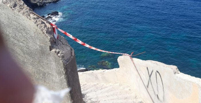 Cerrado el acceso a la playa de Agua Dulce, en Guía de Isora