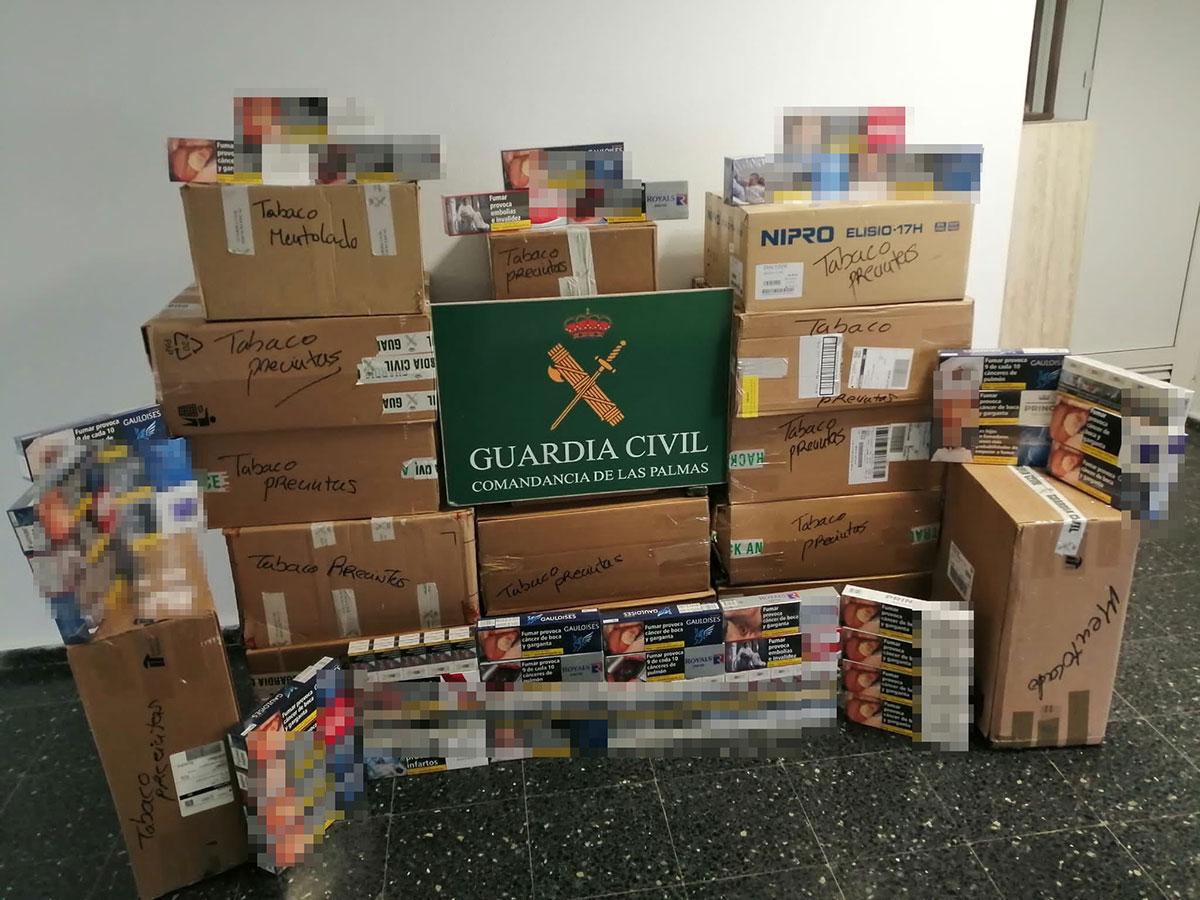 La Guardia Civil se incauta de más de 10.000 productos de tabaco sin precintas fiscales en Gran Canaria