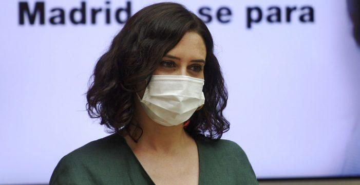 Madrid presentará el viernes un recurso contra las medidas del Gobierno y solicitará medidas cautelares