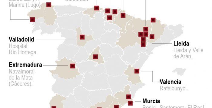 El mapa de los brotes activos de coronavirus en España hasta la fecha