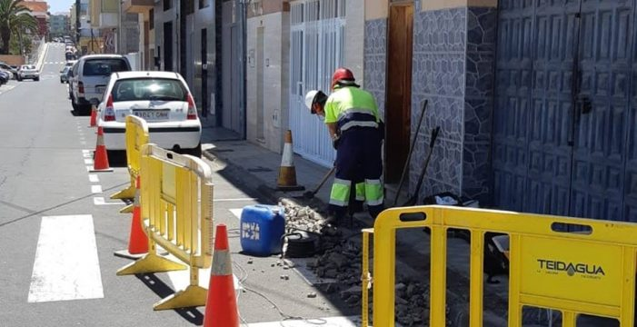 Obras en Bajamar y Valle de Guerra para mejorar la red de abastecimiento