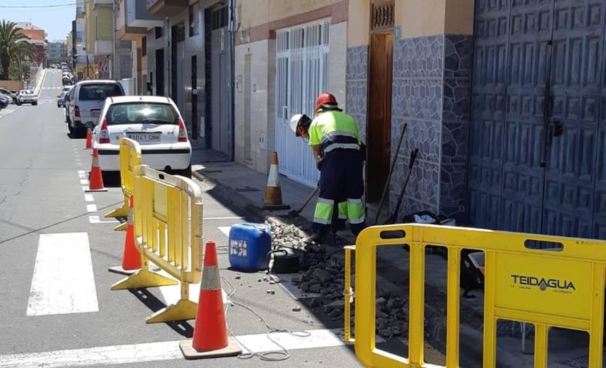Teidagua está realizando diversas intervenciones en los barrios del municipio lagunero. DA