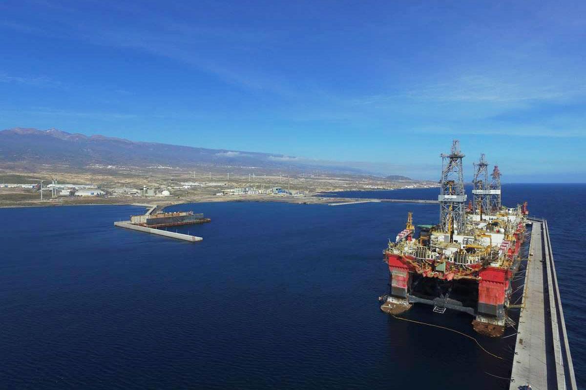 Vista del puerto de Granadilla de Abona