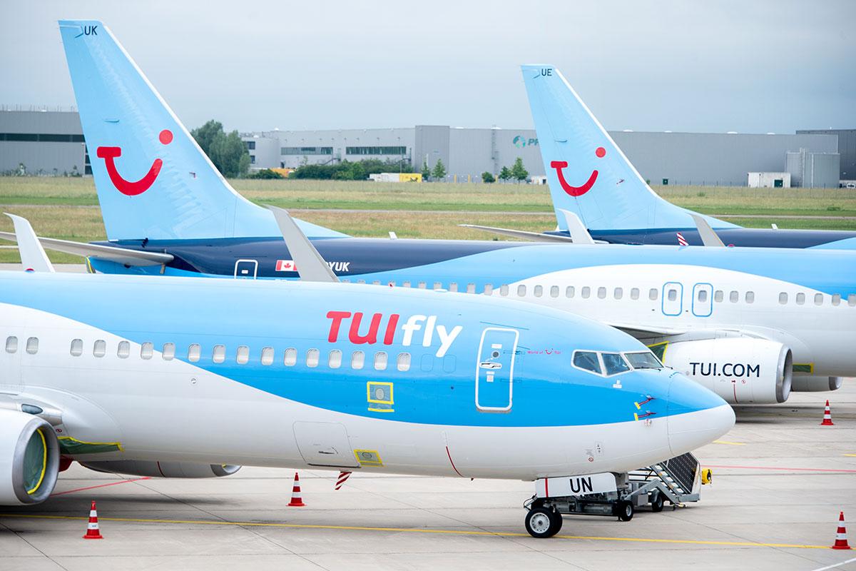Aviones de la compañía TUI