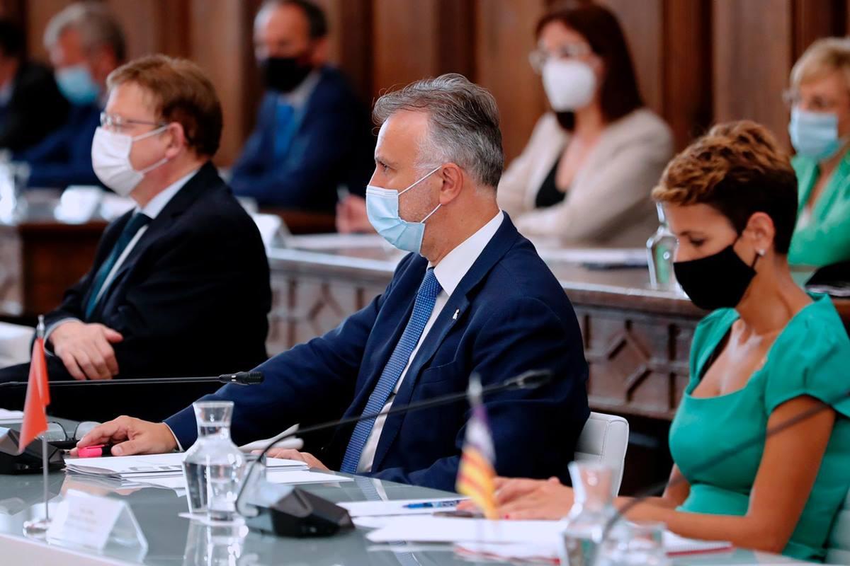 La primera reunión presencial de la Conferencia de Presidentes autonómicos tras la crisis sanitaria se celebró en el Monasterio de Yuso, La Rioja. DA
