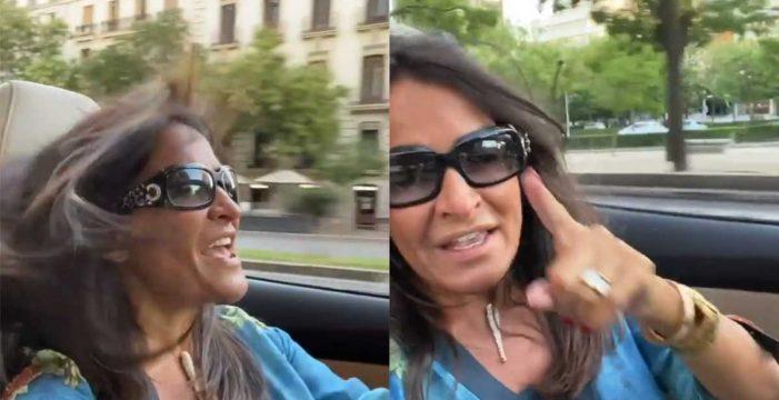Peligro al volante: Aída Nízar se graba con el móvil mientras conduce sin cinturón