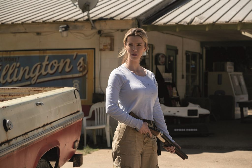 Betty Gilpin protagoniza 'La Caza', una de las películas que más debate ha generado en el último año.