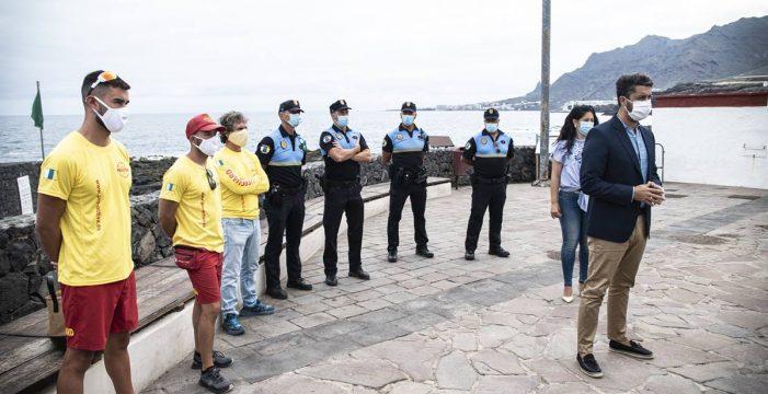 Refuerzan la seguridad en el Arco de Jover ante el alto riesgo para los bañistas
