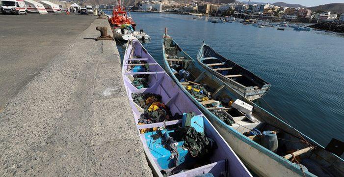 La patera llegada a Lanzarote con 12 ocupantes traía 544 kilos de hachís