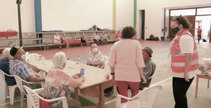 Puntagorda y la Cruz Roja: el binomio que da aliento a  los evacuados