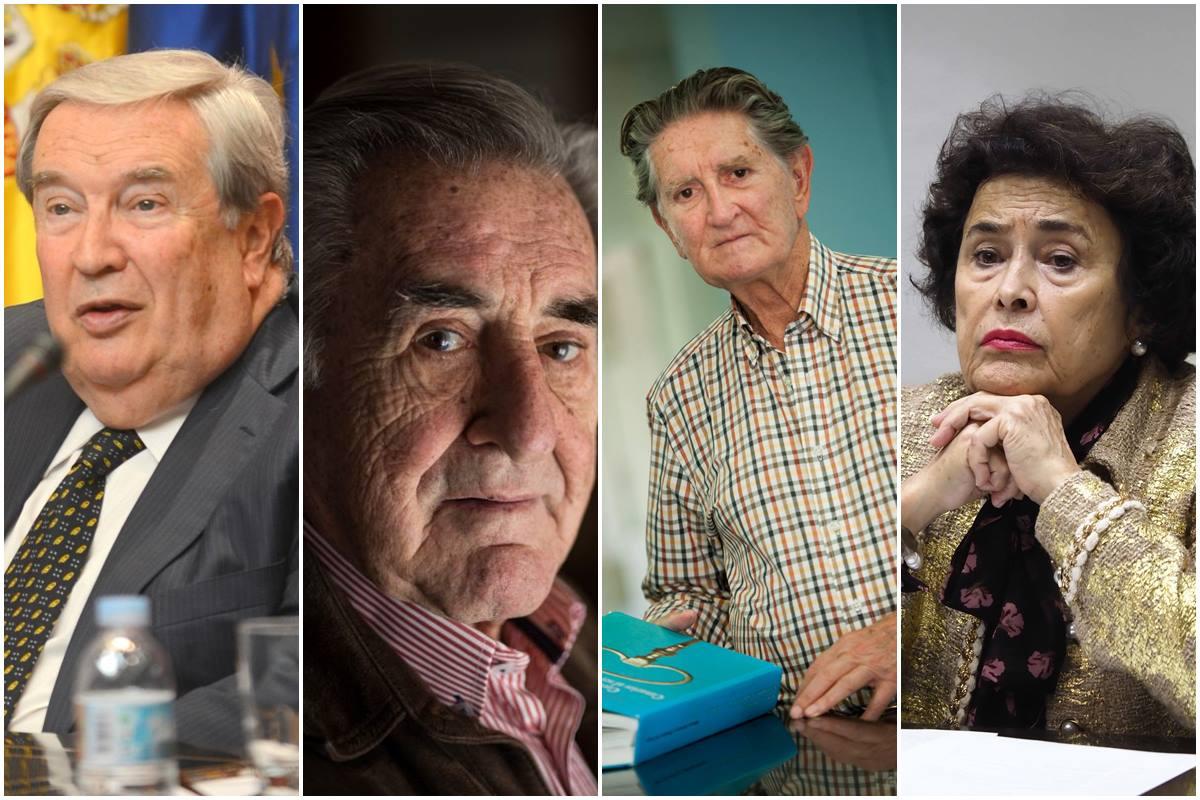 Jerónimo Saavedra, Manuel Hermoso, Alfonso Soriano y María Dolores Pelayo. DA