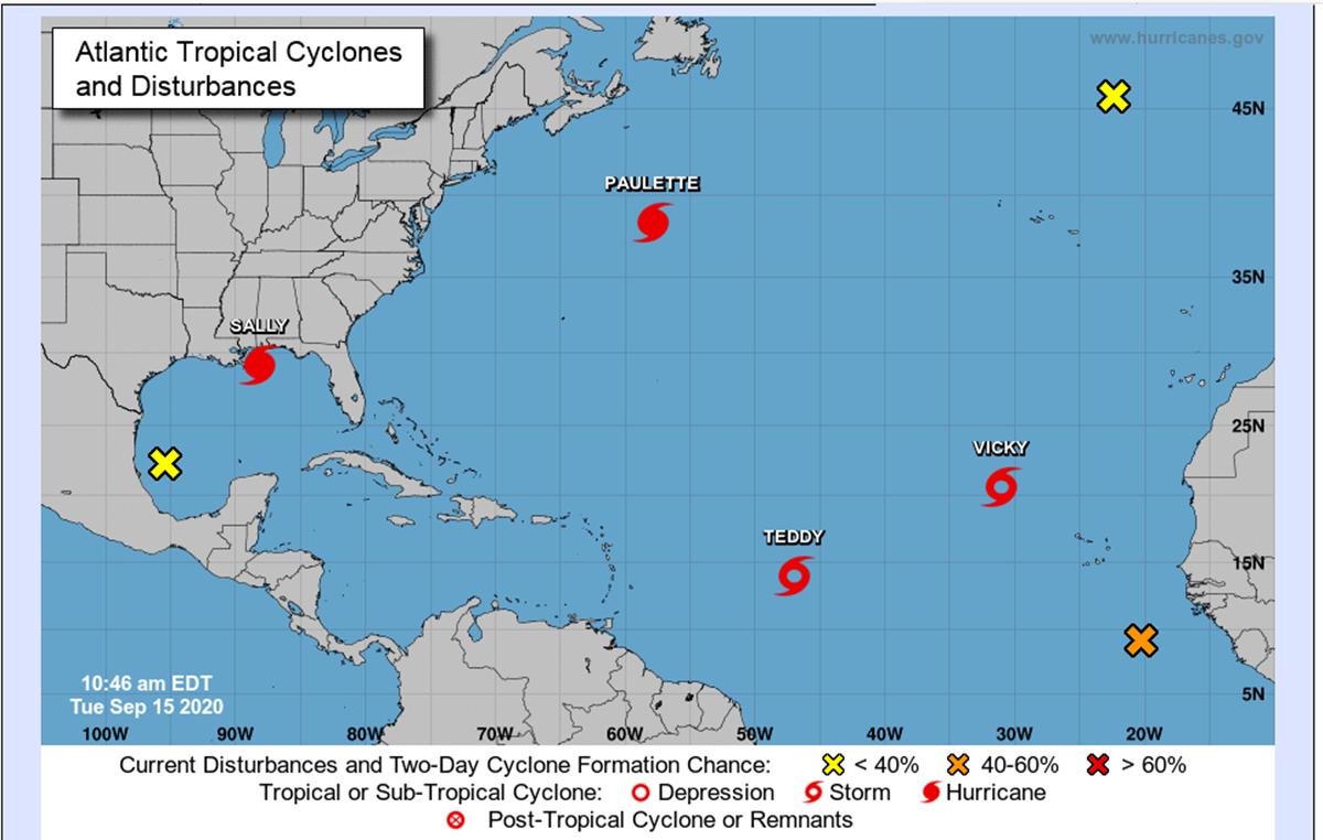 Canarias, atenta a los huracanes del Atlántico. Twitter