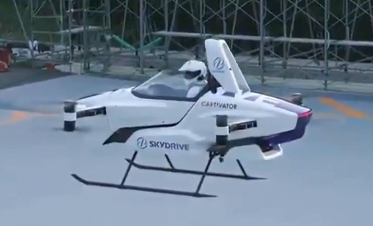 """El """"coche volador"""" queSkyDrive Inc. Twitter"""