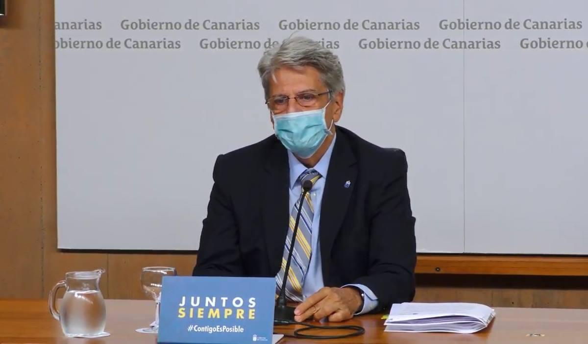 El portavoz del Gobierno de Canarias. Julio Pérez