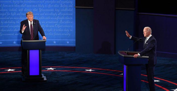 Caótico y bronco primer debate entre Trump y Biden