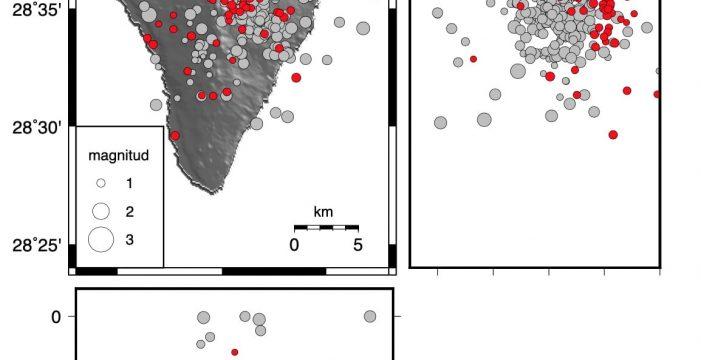Involcan actualiza a 155 los terremotos en el volcán palmero de Cumbre Vieja en dos días