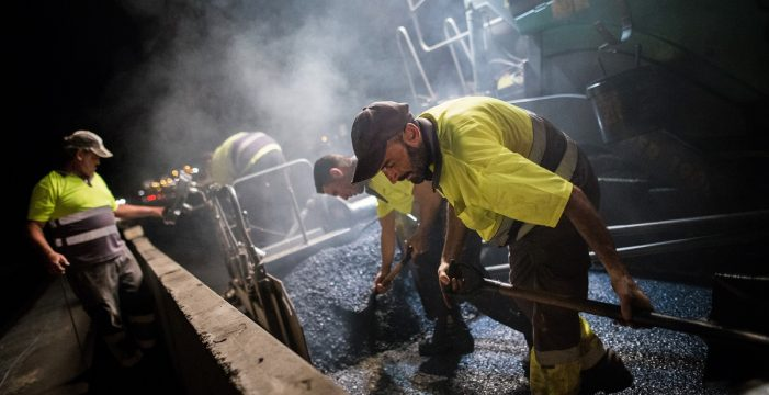 Las obras de reasfaltado de  las autopistas del Sur y Norte empezarán en diciembre