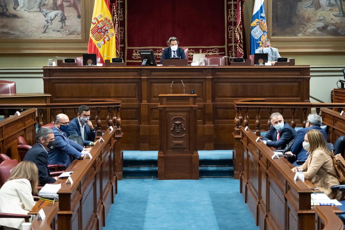 Pleno en el Parlamento de Canarias. Fran Pallero