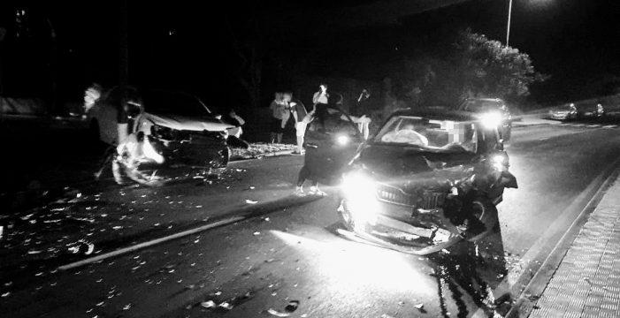 Tres heridos en un accidente frontal en el Puerto de la Cruz