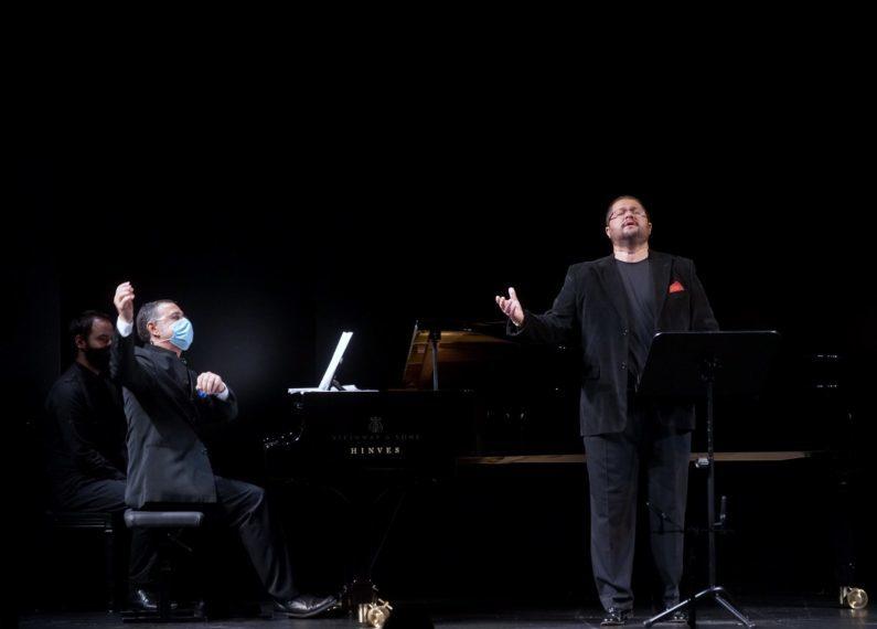Celso Albelo y Juan Francisco Parra ofrecieron en Madrid un recital con música de autores canarios y piezas de zarzuela. / Javier del Real / Teatro de la Zarzuela